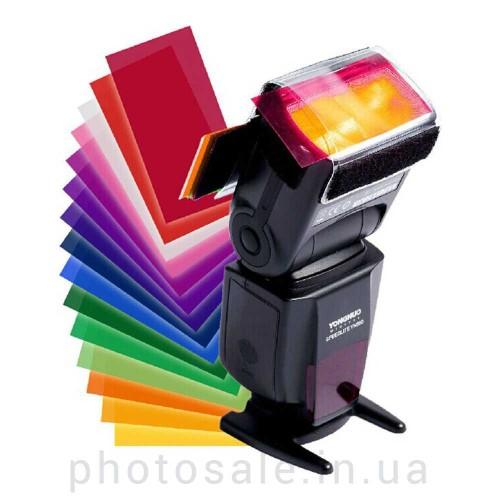 Цветные гелевые творческие фильтры для вспышек – набор из 12 штук