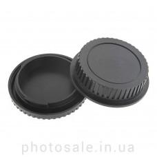 Задняя крышка для объективов + крышка для фотокамеры Canon-байонет