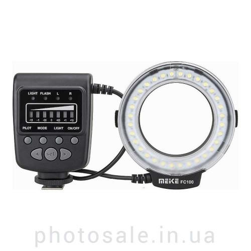 LED-макровспышка Meike FC100 для Canon, Nikon, Pentax