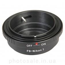 Переходник Canon FD – Nikon 1