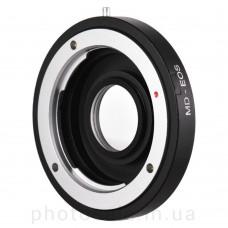 Переходник Minolta MD – Canon EF с линзой без чипа