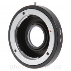 Переходник Minolta MD – Nikon F с линзой