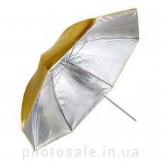Фотозонт студийный Mircopro UB-005G 100 см – золото / серебро