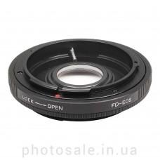 Переходник Canon FD – Canon EF с линзой и с чипом