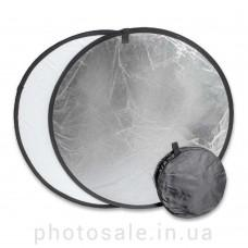 Светоотражатель 110 см – 2 в 1: белый, серебро